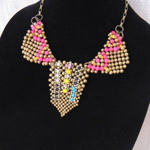 Anthropologie Jewelry - Anthropology Pam Hiran Beaded Bib Necklace Boho